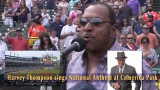Harvey Thompson sings National Anthem @ Comerica Park
